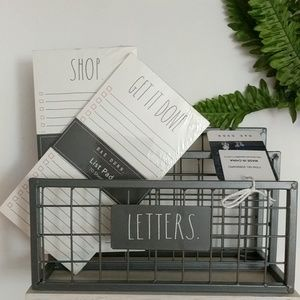 Rae Dunn  Letters Stand Holder /2  and List Pads
